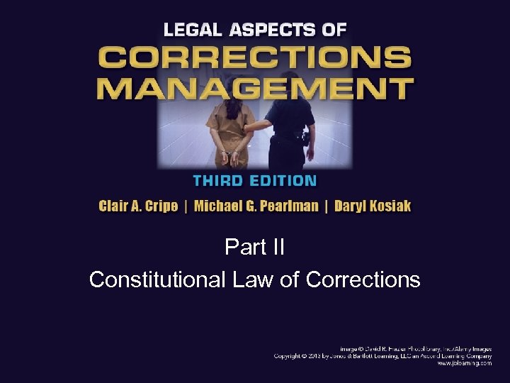 Part II Constitutional Law of Corrections