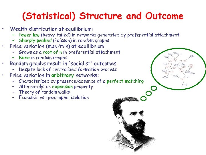 (Statistical) Structure and Outcome • Wealth distribution at equilibrium: • Price variation (max/min) at