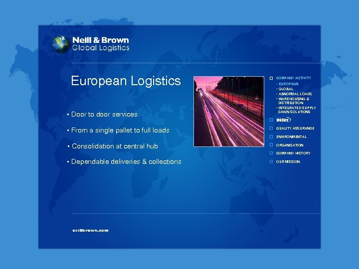 European Logistics COMPANY ACTIVITY - EUROPEAN - GLOBAL - ABNORMAL LOADS - WAREHOUSING &