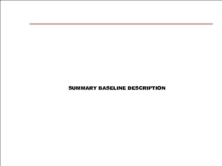 SUMMARY BASELINE DESCRIPTION