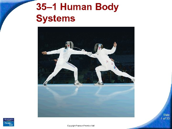 35– 1 Human Body Systems Slide 1 of 33 Copyright Pearson Prentice Hall
