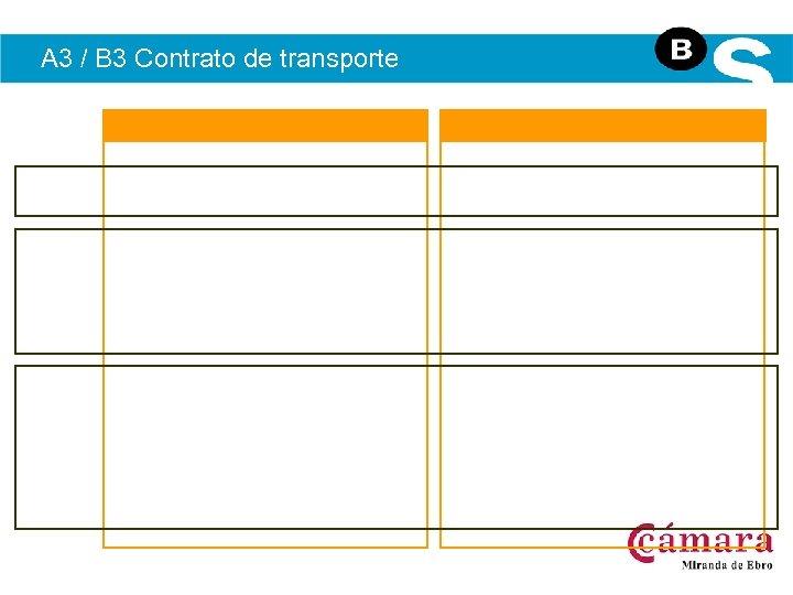 A 3 / B 3 Contrato de transporte