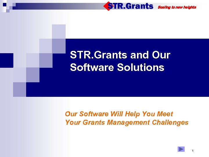 Scaling to new heights STR. Grants and Our Software Solutions Our Software Will Help