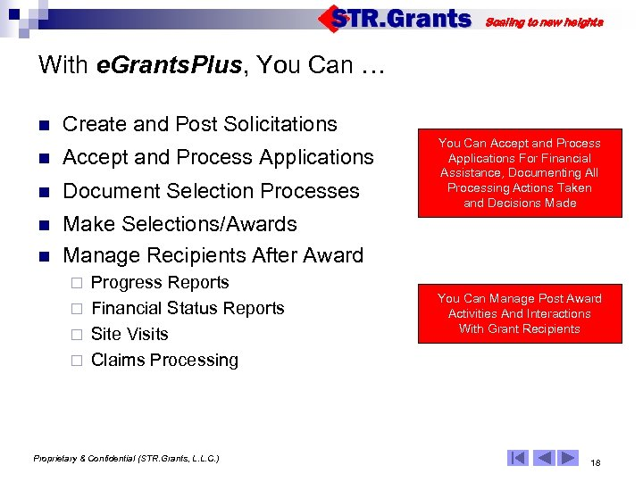 Scaling to new heights With e. Grants. Plus, You Can … n Create and