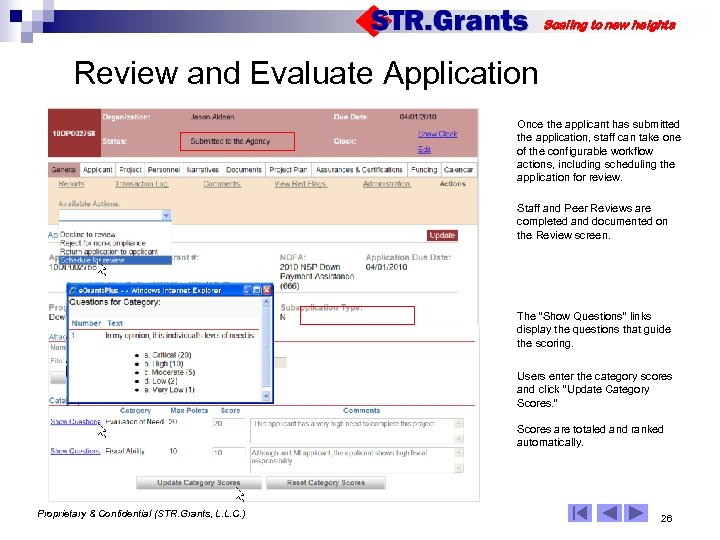 Scaling to new heights Review and Evaluate Application Once the applicant has submitted the