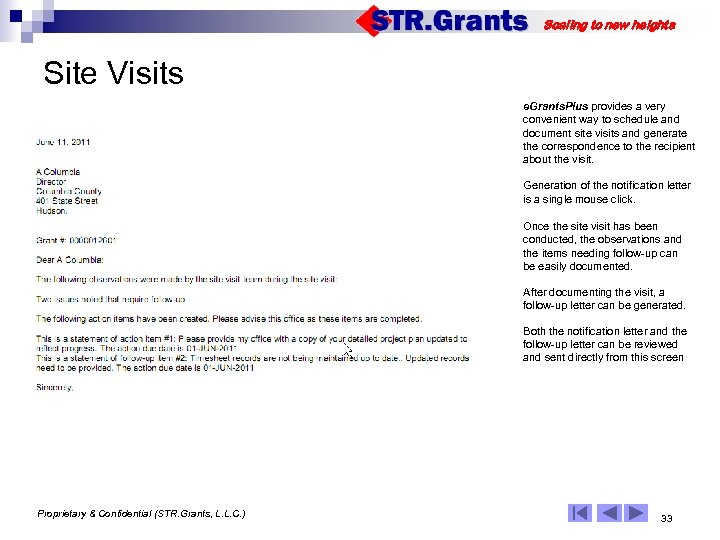 Scaling to new heights Site Visits e. Grants. Plus provides a very convenient way