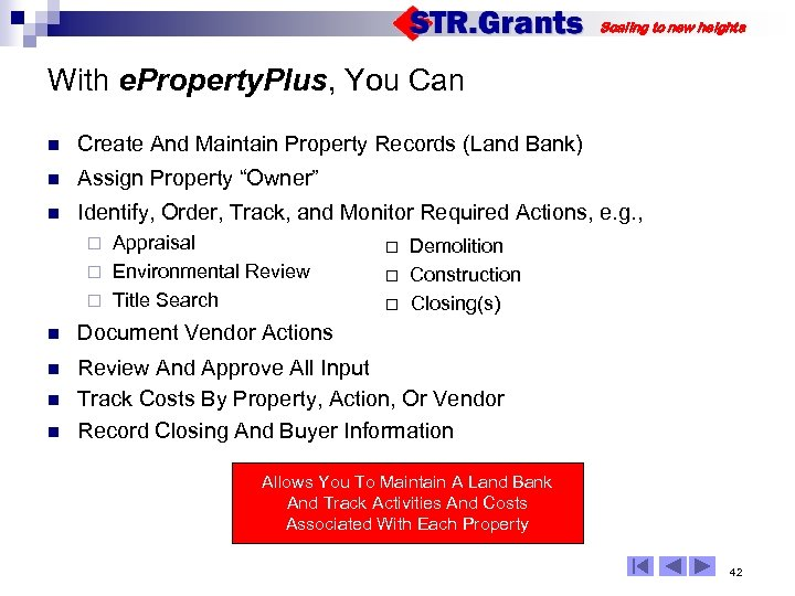 Scaling to new heights With e. Property. Plus, You Can n Create And Maintain