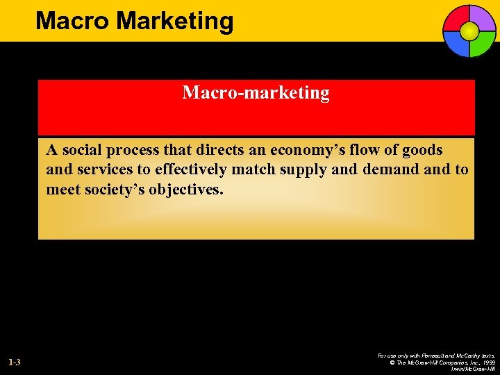 Macro Marketing Macro-marketing A social process that directs an economy's flow of goods and