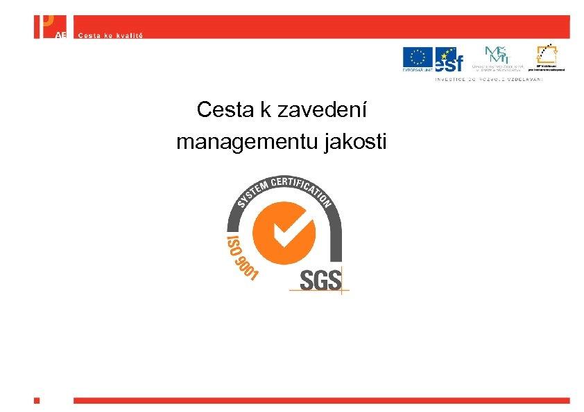 Cesta k zavedení managementu jakosti