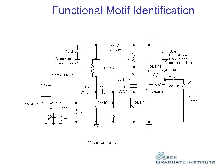 Functional Motif Identification 27 components