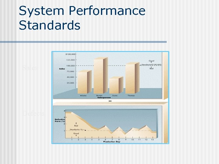 System Performance Standards Sales Defects