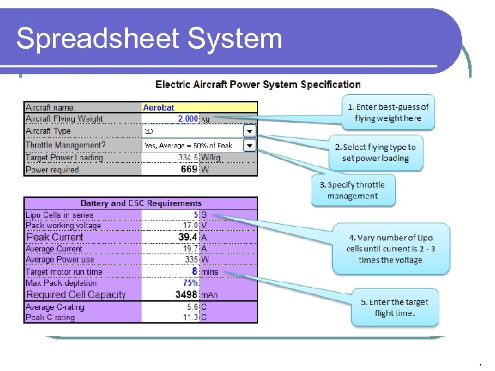 Spreadsheet System .