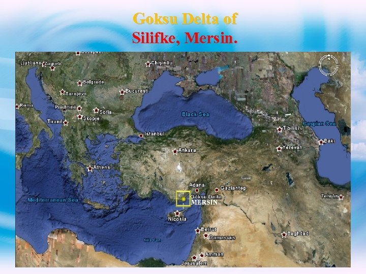 Goksu Delta of Silifke, Mersin.