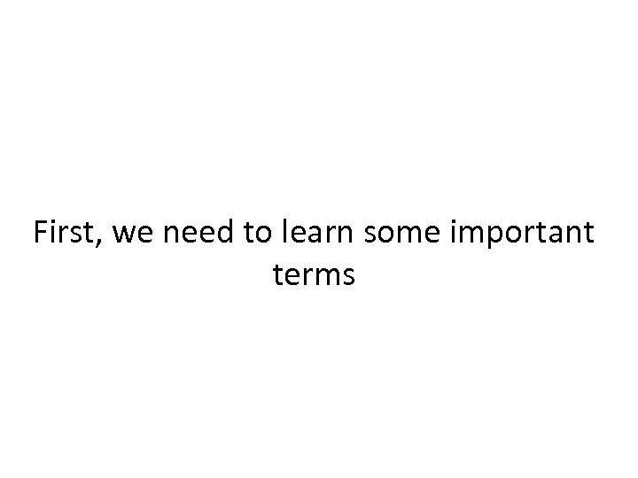 First, we need to learn some important terms