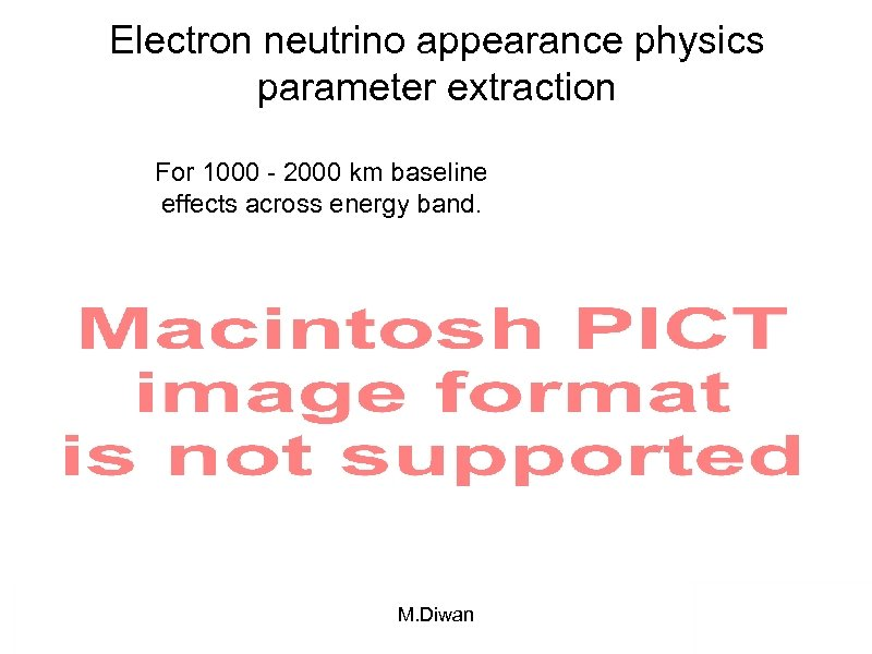 Electron neutrino appearance physics parameter extraction For 1000 - 2000 km baseline effects across
