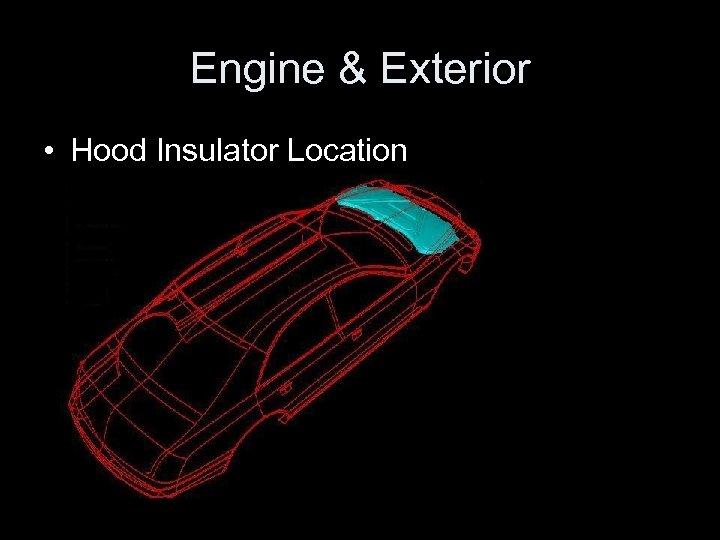 Engine & Exterior • Hood Insulator Location