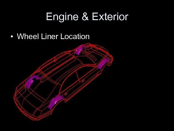 Engine & Exterior • Wheel Liner Location