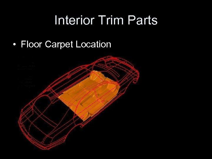 Interior Trim Parts • Floor Carpet Location
