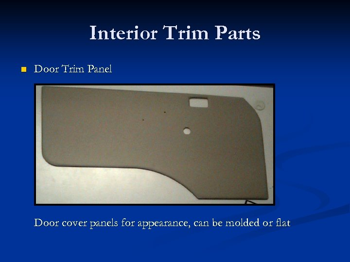 Interior Trim Parts n Door Trim Panel Door cover panels for appearance, can be