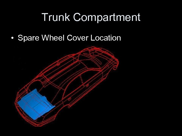 Trunk Compartment • Spare Wheel Cover Location
