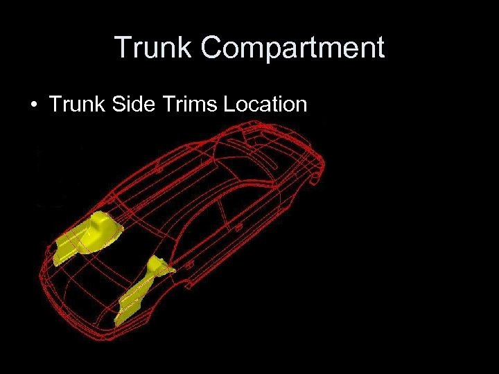 Trunk Compartment • Trunk Side Trims Location
