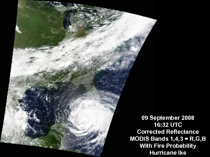 09 September 2008 16: 32 UTC Corrected Reflectance MODIS Bands 1, 4, 3 =