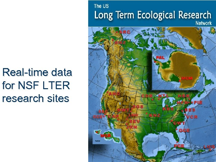 Real-time data for NSF LTER research sites