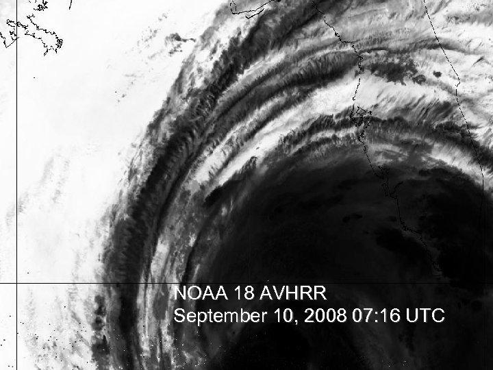 NOAA 18 AVHRR September 10, 2008 07: 16 UTC