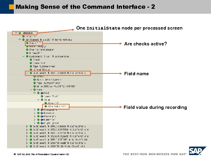 Making Sense of the Command Interface - 2 One Initial. State node per processed