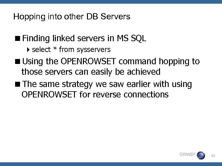 Hopping into other DB Servers <Finding linked servers in MS SQL 4 select *
