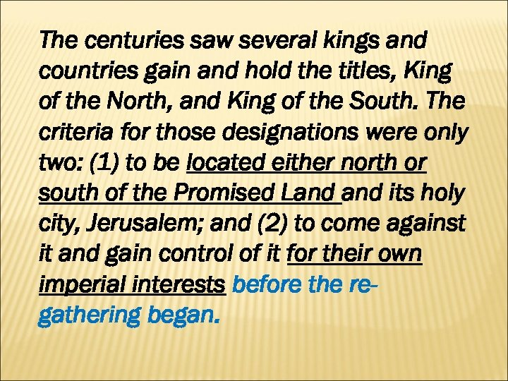 The centuries saw several kings and countries gain and hold the titles, King of