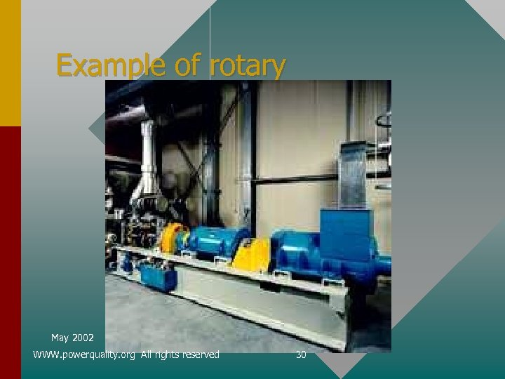 Example of rotary May 2002 WWW. powerquality. org All rights reserved 30