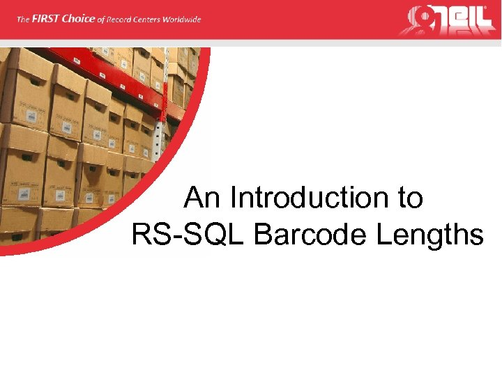 An Introduction to RS-SQL Barcode Lengths