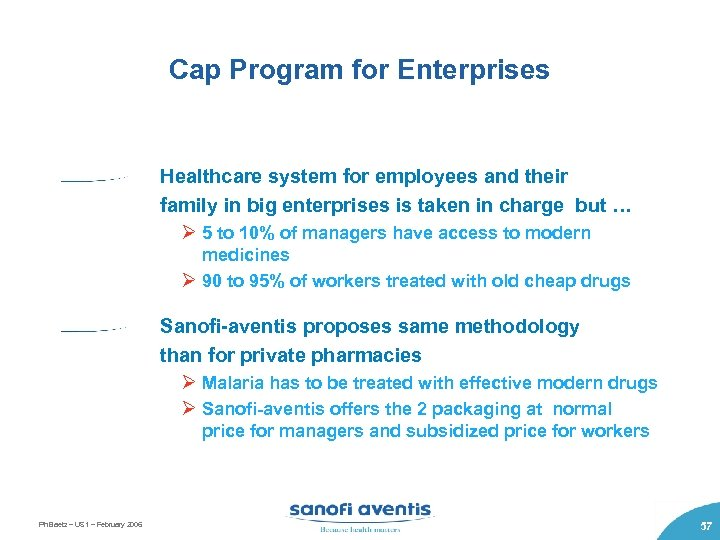 Cap Program for Enterprises Healthcare system for employees and their family in big enterprises