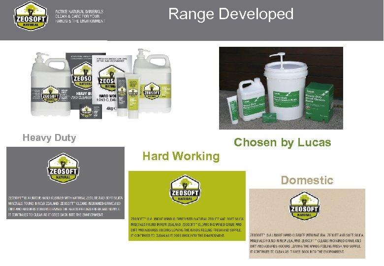 Range Developed Heavy Duty Chosen by Lucas Hard Working Domestic