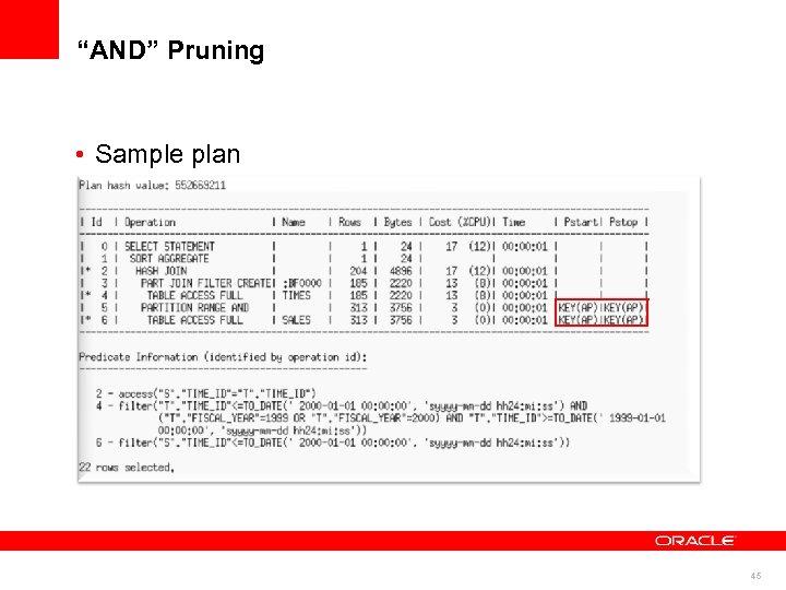 """""""AND"""" Pruning • Sample plan 45"""