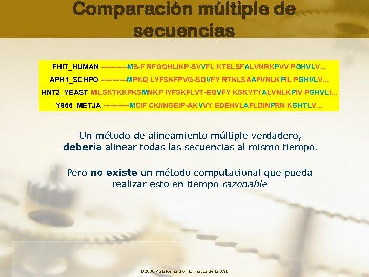 Comparación múltiple de secuencias FHIT_HUMAN ------MS-F RFGQHLIKP-SVVFL KTELSFALVNRKPVV PGHVLV. . . APH 1_SCHPO ------MPKQ