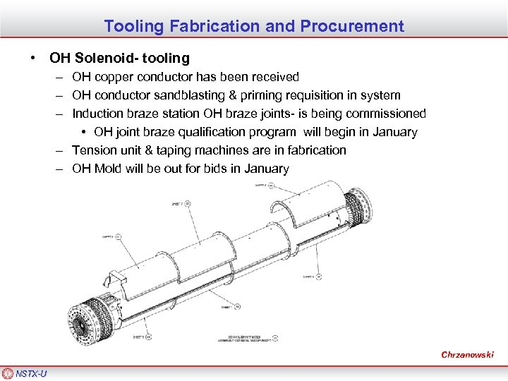 Tooling Fabrication and Procurement • OH Solenoid- tooling – OH copper conductor has been