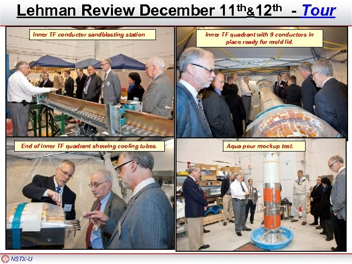 Lehman Review December 11 th&12 th - Tour Inner TF conductor sandblasting station Inner