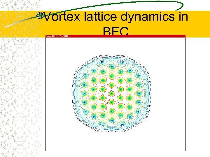 Vortex lattice dynamics in BEC