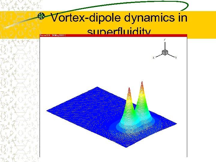 Vortex-dipole dynamics in superfluidity