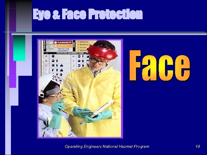 Eye & Face Protection Operating Engineers National Hazmat Program 19