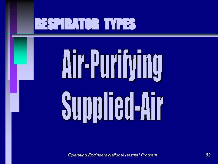 RESPIRATOR TYPES Operating Engineers National Hazmat Program 82