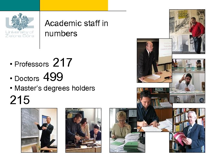 Academic staff in numbers 217 499 • Professors • Doctors • Master's degrees holders