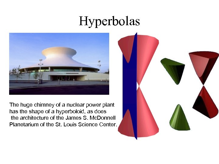 Hyperbolas The huge chimney of a nuclear power plant has the shape of a