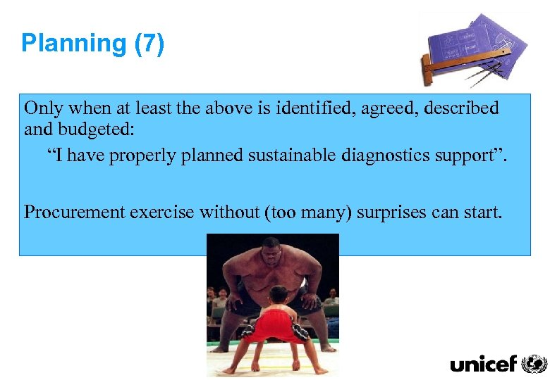 Planning (7) Only when at least the above is identified, agreed, described and budgeted: