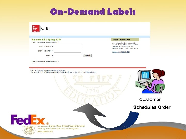 On-Demand Labels Customer Schedules Order