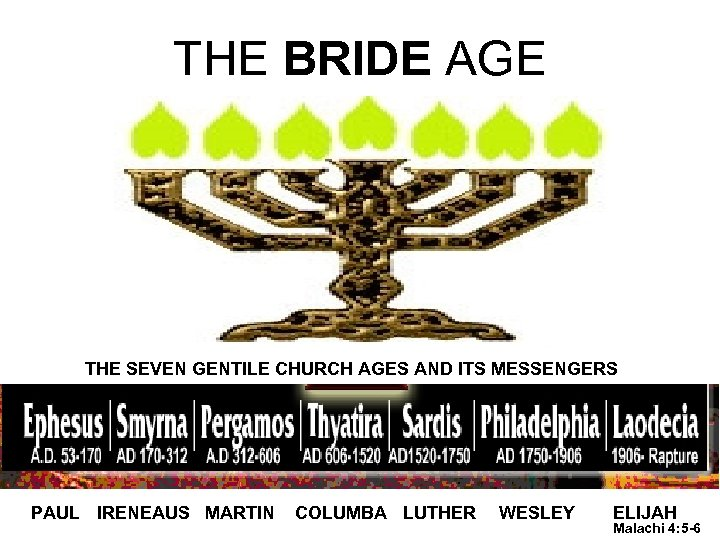 THE BRIDE AGE THE SEVEN GENTILE CHURCH AGES AND ITS MESSENGERS PAUL IRENEAUS MARTIN