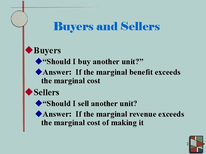 "Buyers and Sellers u. Buyers u""Should I buy another unit? "" u. Answer: If"