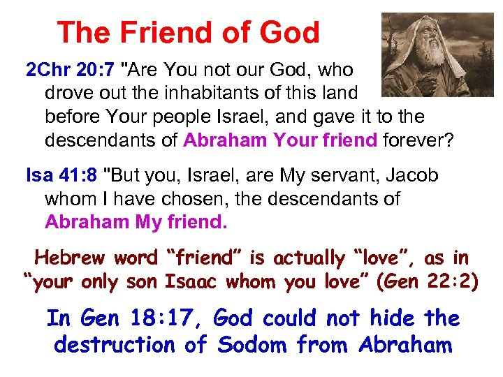The Friend of God 2 Chr 20: 7